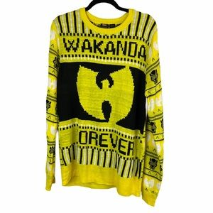 Black Panther Wakanda Forever Wu Tang sweater M